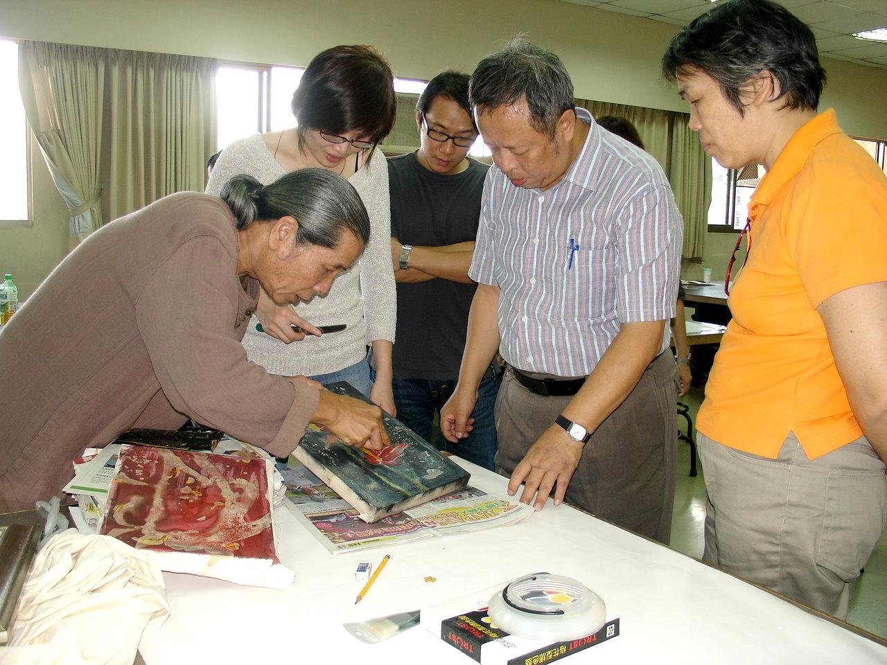 商业设计学程「水墨蜡染」教师研习 提升创意教学知能图片